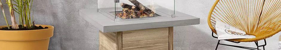 Feuertisch aus Holz