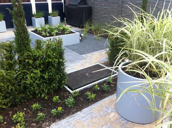 Polyester plantenbak rond