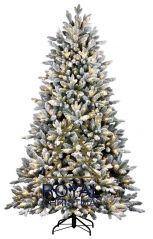 Royal Christmas Canberra Flock kunstkerstboom 180 cm met LED smartadapter